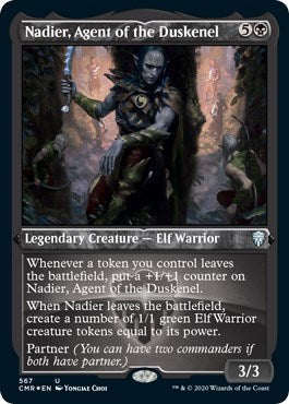 Nadier, Agent of the Duskenel (Foil Etched) [Commander Legends] | Emerald Dragon Games