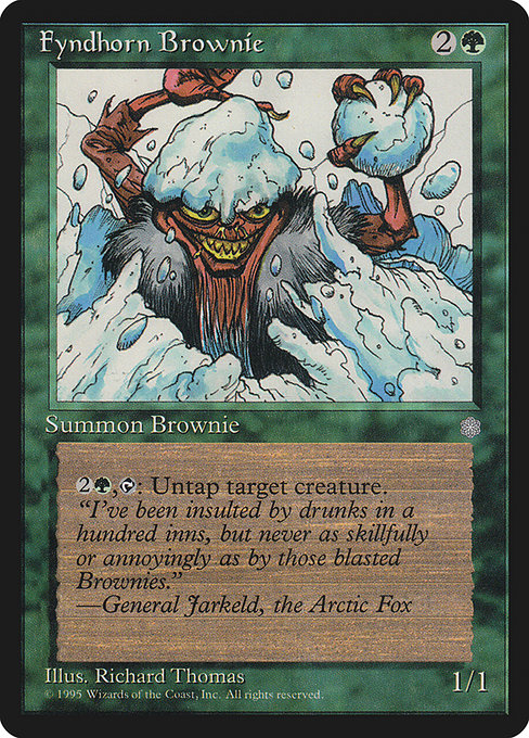 Fyndhorn Brownie [Ice Age] | Emerald Dragon Games