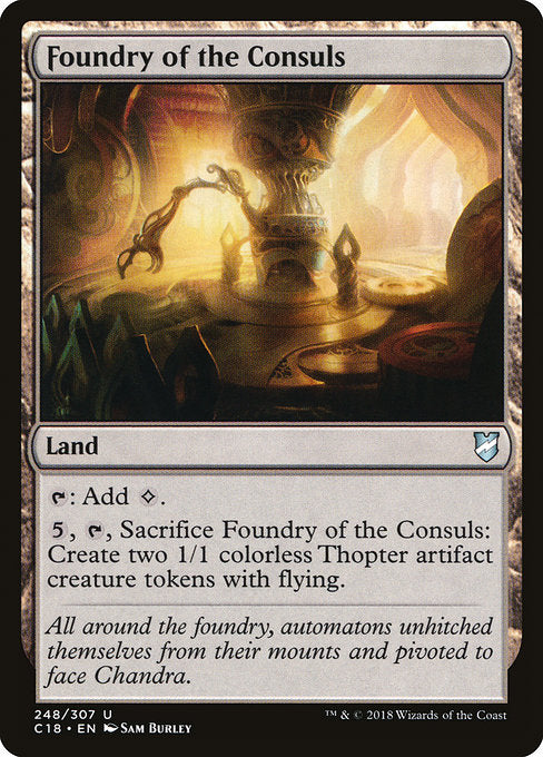 Foundry of the Consuls [Commander 2018] | Emerald Dragon Games