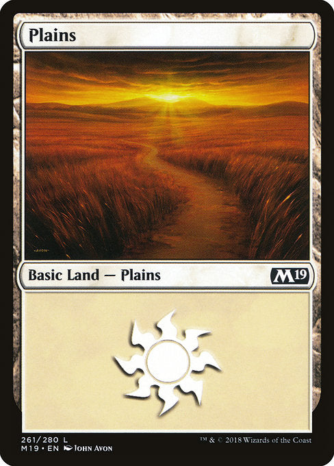 Plains [Core Set 2019] | Emerald Dragon Games