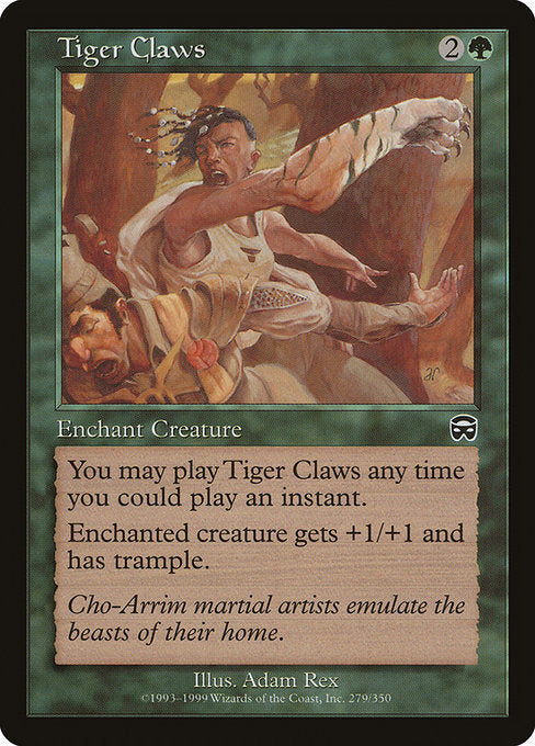 Tiger Claws [Mercadian Masques] | Emerald Dragon Games