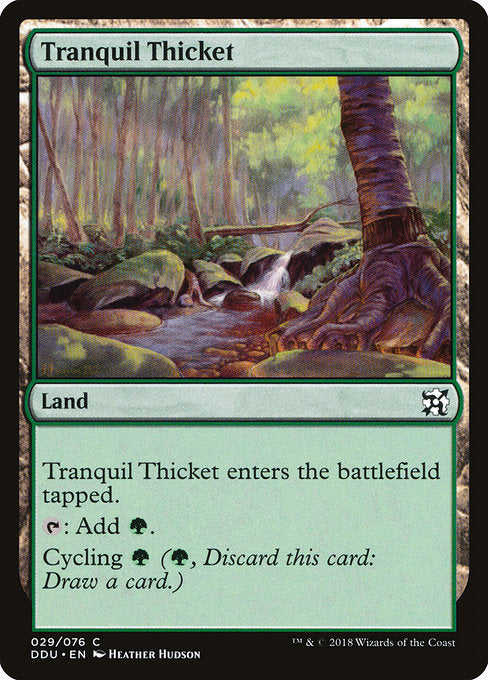 Tranquil Thicket [Duel Decks: Elves vs. Inventors] | Emerald Dragon Games