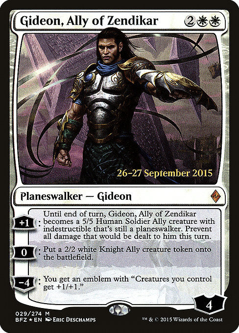 Gideon, Ally of Zendikar [Battle for Zendikar Promos] | Emerald Dragon Games