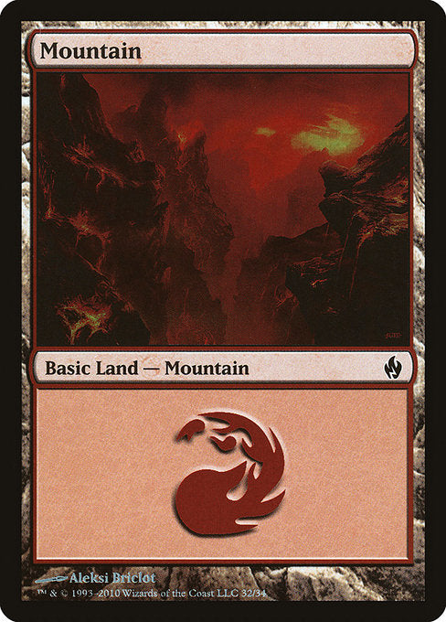Mountain [Premium Deck Series: Fire and Lightning] | Emerald Dragon Games