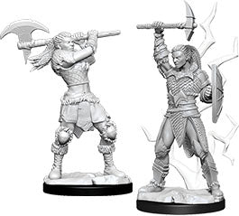 Dungeons & Dragons Nolzur`s Marvelous Unpainted Miniatures: W10 Female Goliath Barbarian | Emerald Dragon Games