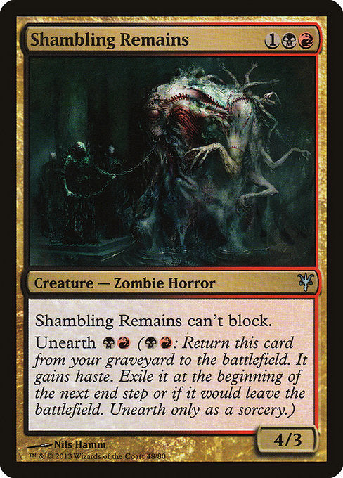 Shambling Remains [Duel Decks: Sorin vs. Tibalt] | Emerald Dragon Games