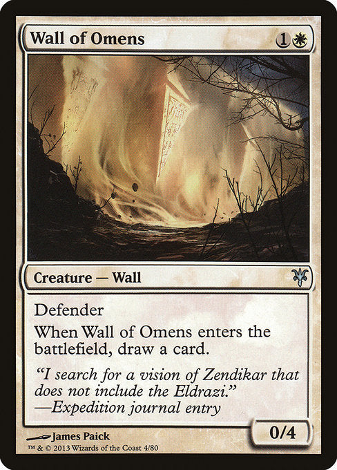 Wall of Omens [Duel Decks: Sorin vs. Tibalt] | Emerald Dragon Games