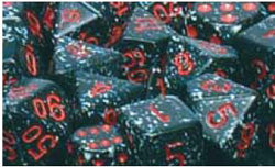 7CT SPECKLED POLY SPACE DICE SET