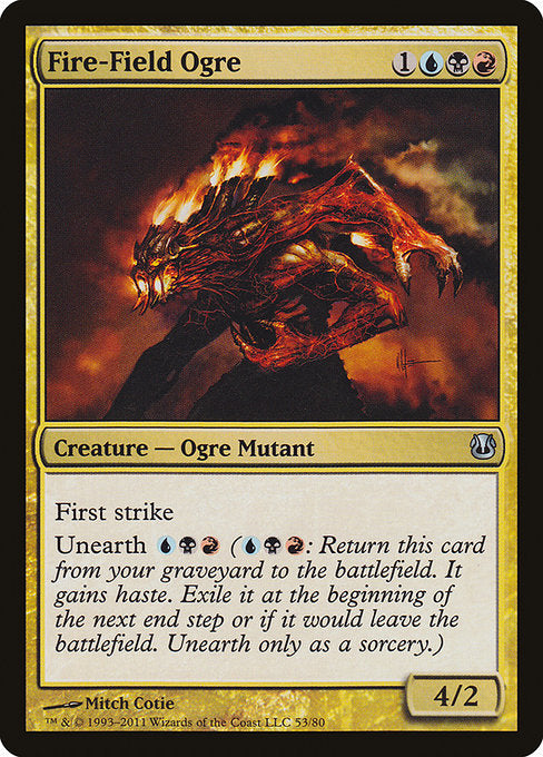 Fire-Field Ogre [Duel Decks: Ajani vs. Nicol Bolas] | Emerald Dragon Games