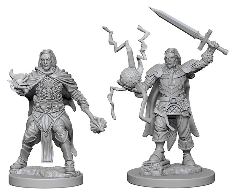 Deep Cuts Unpainted Miniatures: W1 Human Male Cleric | Emerald Dragon Games