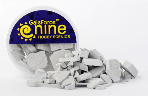 Hobby Round Concrete Rubble Mix | Emerald Dragon Games