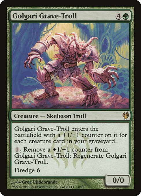 Golgari Grave-Troll Legacy Vintage Magic LP Dredge Duel Deck Rare