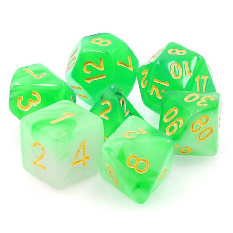 7CT ELDRITCH GAZE - 16MM TRANSLUCENT HAZE DICE SET