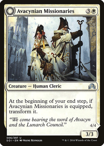 Avacynian Missionaries // Lunarch Inquisitors [Shadows over Innistrad]
