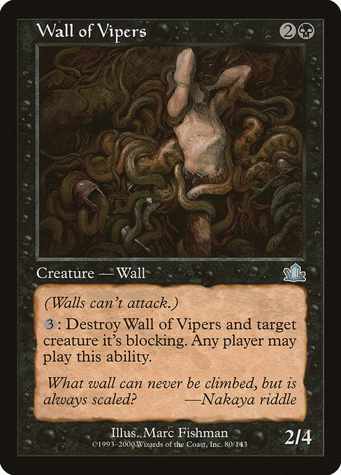 Wall of Vipers [Prophecy] | Emerald Dragon Games