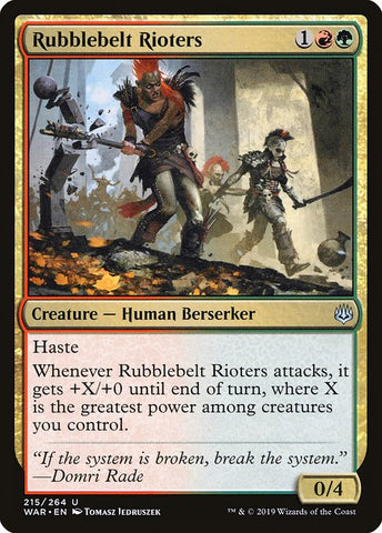 Rubblebelt Rioters [War of the Spark]