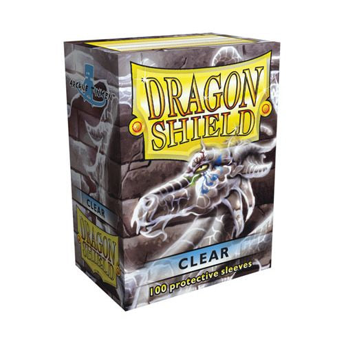 DRAGON SHIELD SLEEVES: CLEAR (BOX OF 100) | Emerald Dragon Games