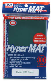 Sleeves: Full Size Hyper Matte Green (100) USA Pack | Emerald Dragon Games