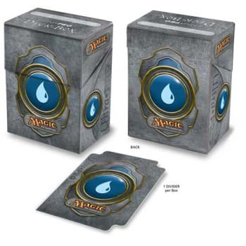 Deck Box w/ Divider - Magic - Mana Colored 3 - Blue | Emerald Dragon Games