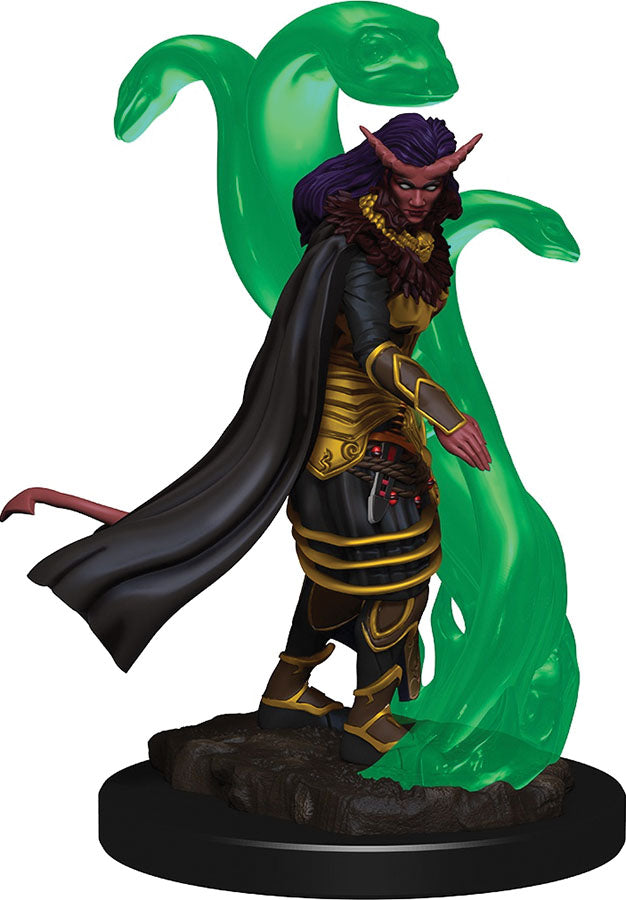 Dungeons & Dragons Icons of the Realms Premium Figures: W1 Tiefling Female Sorcerer | Emerald Dragon Games