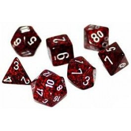 Chessex CHX25344 Dice-Speckled Silver Volcano Set
