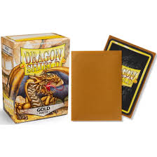 DRAGON SHIELD SLEEVES: MATTE GOLD (BOX OF 100) | Emerald Dragon Games