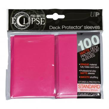 Ultra Pro Eclipse Sleeves Standard Pink 100 Count | Emerald Dragon Games