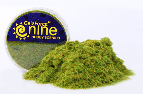 Miniatures Tools: Hobby Round Green Static Grass | Emerald Dragon Games