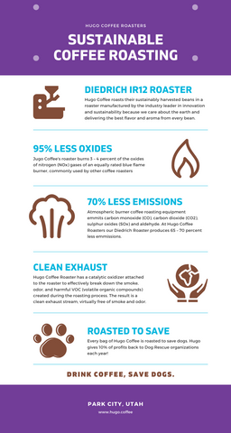 Hugo Coffee Sustainable Roasting Practices Infographic Community Friendly Coffee