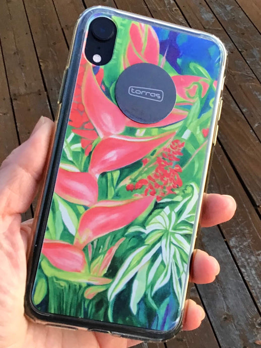 Beautify your iPhone or Samsung phone with a protective case imprinted with a floral or landscape painting!
