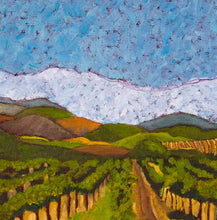 "Load image into Gallery viewer, Original Oil Painting - Napa Valley vineyard hills - 6""H x 6""W x 1-1/2""D"