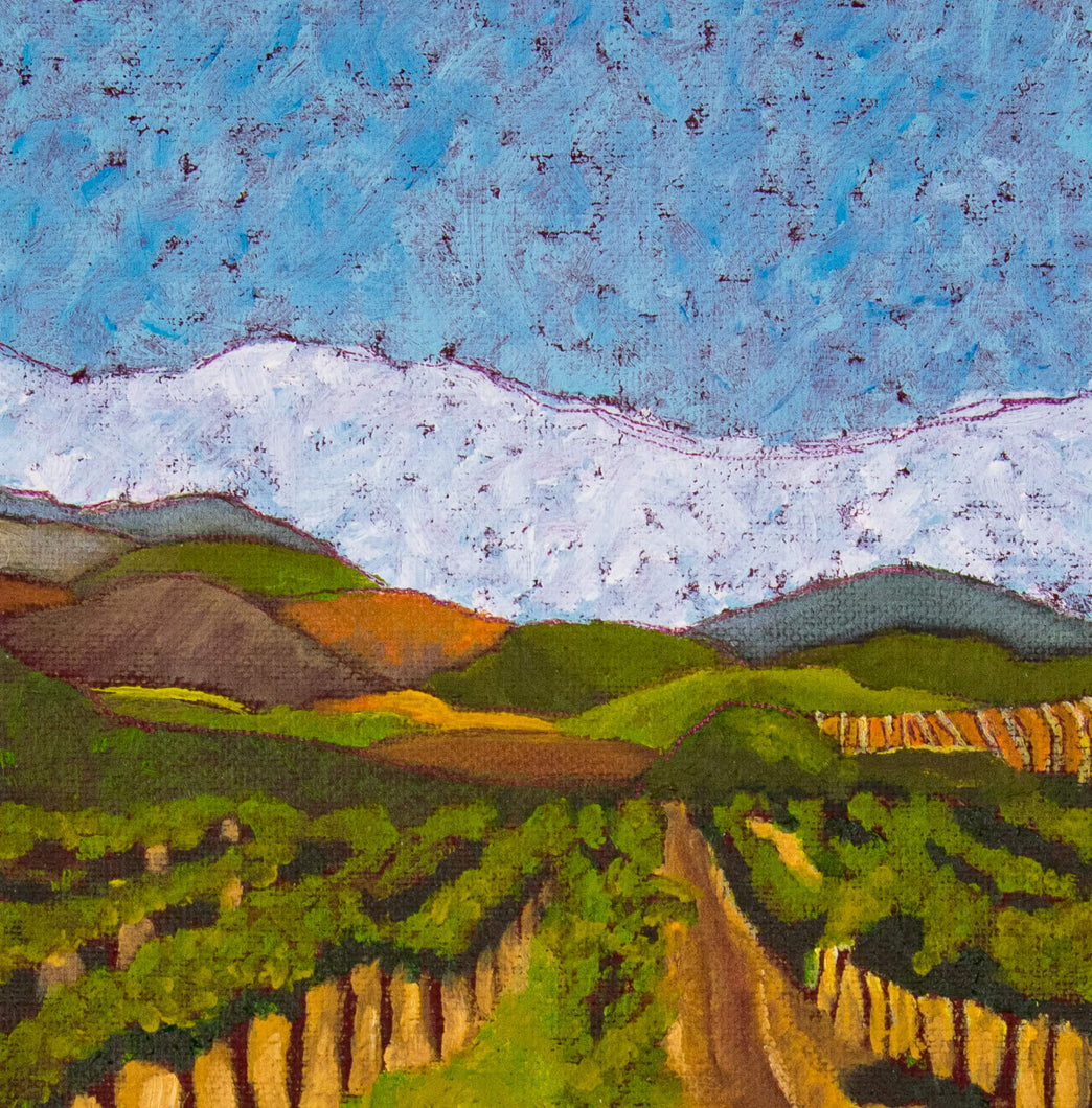 Original Oil Painting - Napa Valley vineyard hills - 6