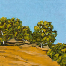 "Load image into Gallery viewer, Original Oil Painting - San Juan Bautista hills oil painting - 6""H x 6""W x 1-1/2""D"
