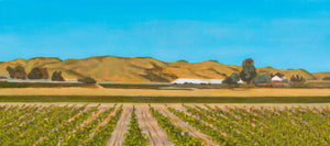 "Original Oil Painting - Sonoma vines - 8""H x 18""W x 5/8""D"