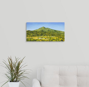 "Original Oil Painting  -  Mt Tamalpais from the studio  -  18""H x 36""W x 5/8""D"