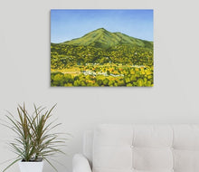 "Load image into Gallery viewer, Original Oil Painting  -  Mt Tamalpais from the studio  -  18""H x 36""W x 5/8""D"