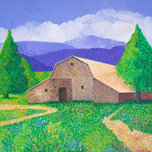 "Load image into Gallery viewer, Original Acrylic Painting  -  Michigan Barn  -  48""H x 48""W x 5/8""D"