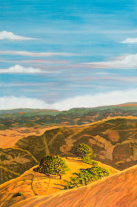 "Original Oil Painting  -  Cal's Delight, Lucas Valley California 2   -  36""H x 24""W x 5/8""D"