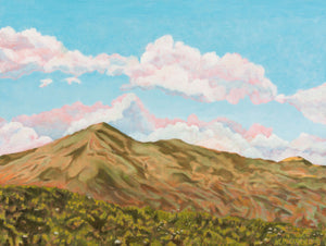 "Original Oil Painting - Sun on Mt Tamalpais - 18""H x 24""W x 5/8""D"