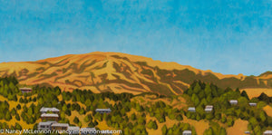 "Original Oil Painting  -  Kentfield Hills 1 (near Mt Tamalpais)  -  12""H x 24""W x 5/8""D"