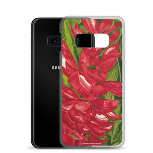 Samsung Case - Red ginger floral - FREE SHIPPING