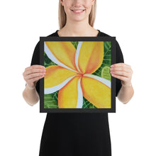 Load image into Gallery viewer, Framed print - Plumeria - FREE SHIPPING