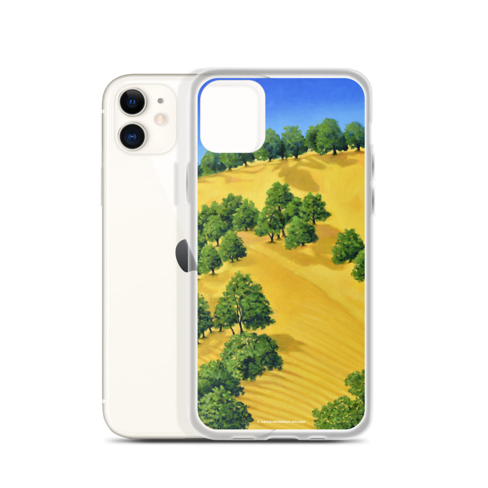 iPhone cell case - Lake Berryessa with golden hills 2 - FREE SHIPPING
