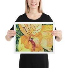 Load image into Gallery viewer, Framed Print - Yellow Alstroemeria - FREE SHIPPING