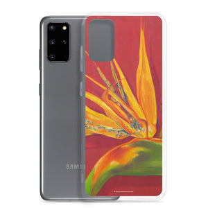 Samsung Case - Bird of Paradise on rust - FREE SHIPPING