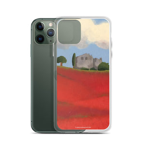 iPhone Case - Farm field with poppies - FREE SHIPPING