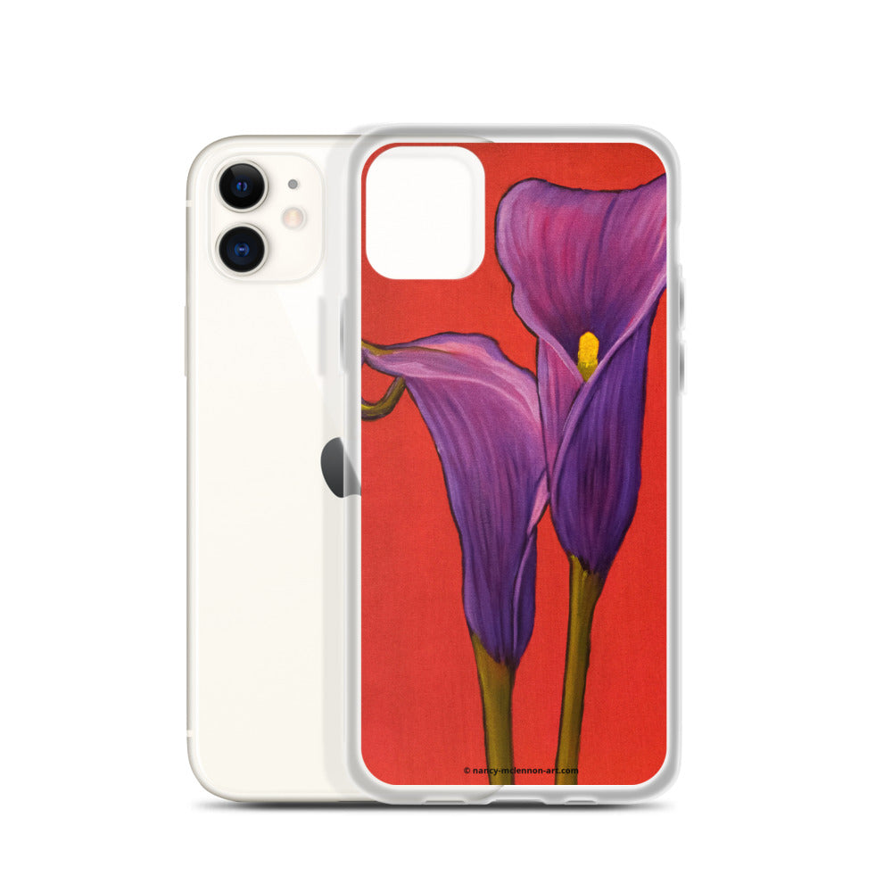 iPhone Case - Purple Calla Lilies