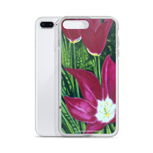 Load image into Gallery viewer, iPhone cell case – Magenta open tulips - FREE SHIPPING