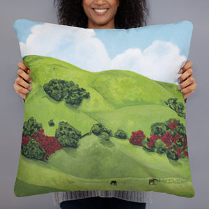 Decorative Pillow - Sonoma Hills in winter -  FREE SHIPPING