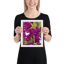 Load image into Gallery viewer, Framed Print - Dark Magenta Orchid - FREE SHIPPING